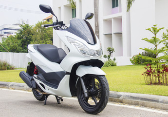 White modern scooter