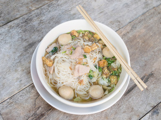 Thai noodle soup, famous food northern style
