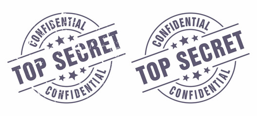 Vector Top Secret Confidential Classified stamp