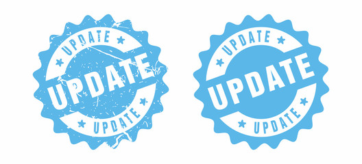 Vector Update Rubber Stamp