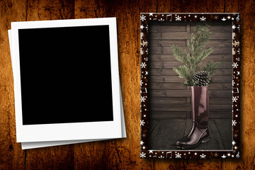 Christmas with one empty photo frame