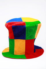 Carnival colorful hat isolated on white background