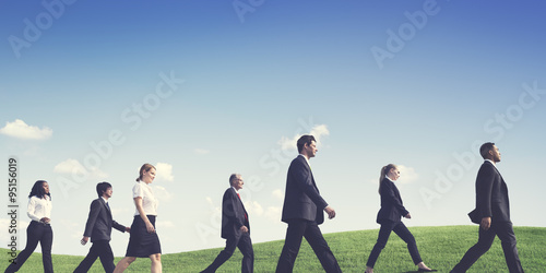 """""""Business People Walking Outdoors the Way Forward Concept ..."""