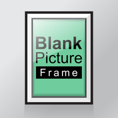 Empty frame template on with shadow on the wall