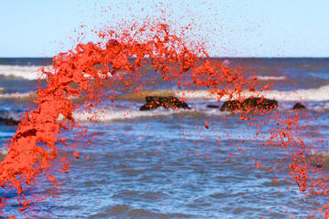 Red watercolour splash