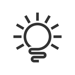 Abstract Light Bulb Logo Template
