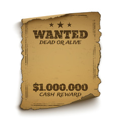 Wanted, dead or alive poster.