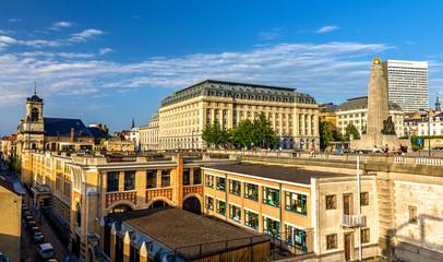 View of Poelaert Square in Brussels - Belgium