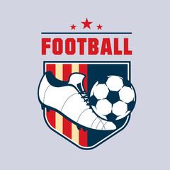 Vintage american color football soccer championship logo - team badge.
