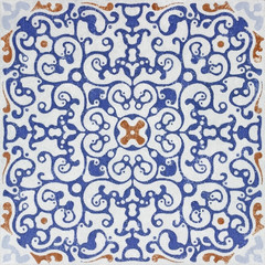 Old ceramic tiles patterns  in the park public.