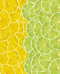 fresh juicy lemon and lime slices such as background