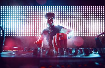 DJ on Turntables