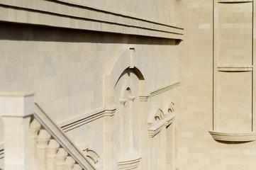 Architecture facade of Mimi Wine Castle in Moldova
