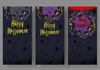 Halloween background. Image Can be used for Halloween greeting card, posters, banners and invitation.