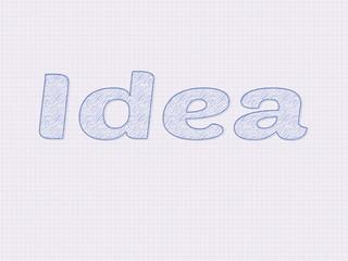 Idea written as a sketch on paper