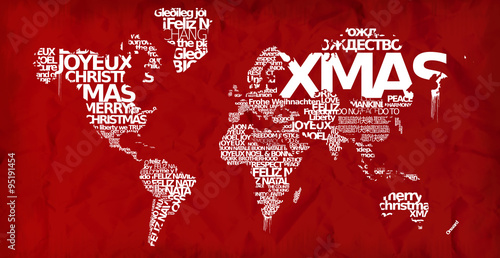 Merry christmas world map xmas globe red greetings wallpaper merry christmas world map xmas globe red greetings wallpaper background words tag cloud international text m4hsunfo
