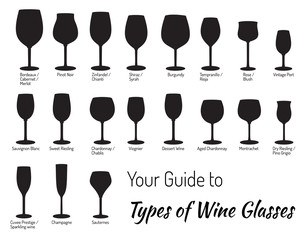 Hand drawn isolated wine glasses