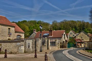 France, the picturesque village of Guiry en Vexin,