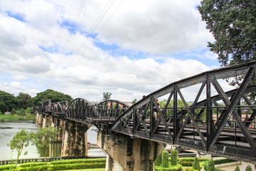 The Bridge River Kwai, Kanchanaburi, Thailand.