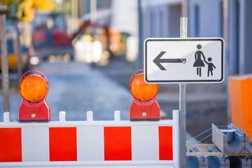 Baustelle, Straßensperrung