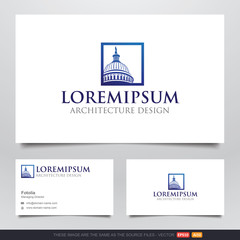 America Capitol Building Logo and Business Card Design