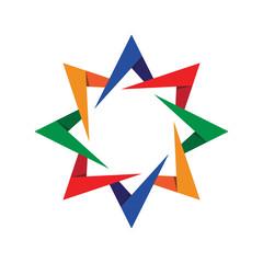 Abstract Arrow Star Logo Template