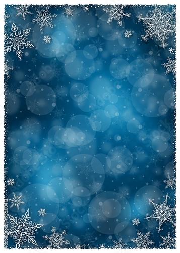 Christmas Background Portrait.Christmas Winter Frame Illustration Vector Illustration