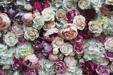 Красивый фон из букета роз