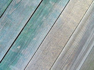 Green Wooden Boards Background