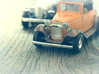 retro cars, vintage arrangement with toys