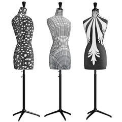 Classical female mannequins trimmed cloth