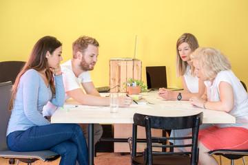 Designers Discussing In 3D Printing Studio