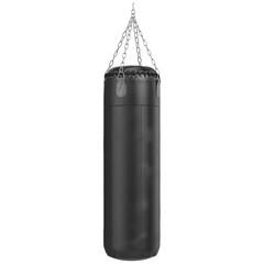 Big leather black punching bag