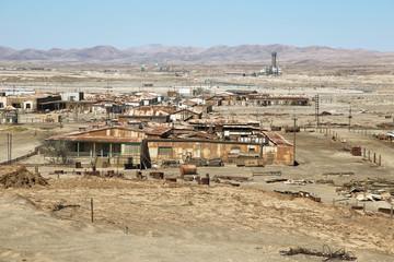 Historic Humberstone Saltpeter Works in the Atacama Desert
