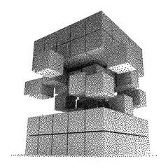 Dotwork Halftone Vector Boxes Icon