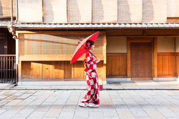 portrait of traditional japanese woman