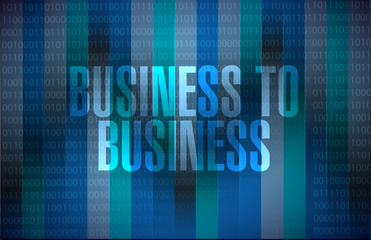 business to business binary background sign
