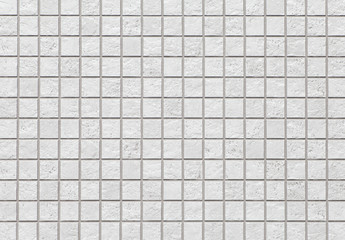 White mosiac tile wall pattern and seamless background