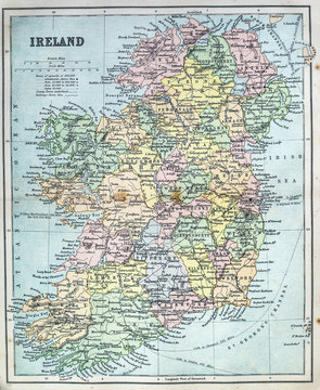 Map of Victorian Era Ireland