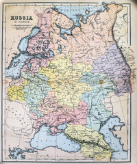 Map of 19th Century Russia