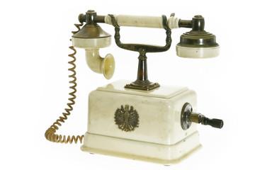 Retro Phone/Retro Phone, Vintage Telephone isolated on White Background.