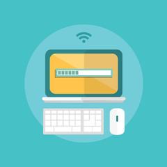 modern design flat character technology vector illustration