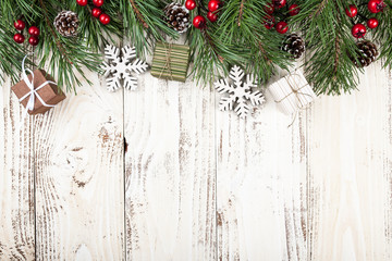 christmas background - Rustic Christmas Background