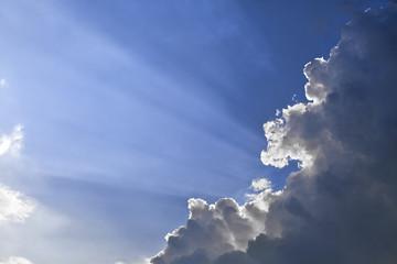 Sun rays through a cloud