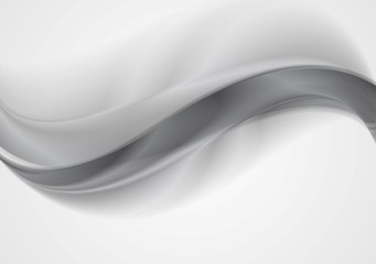 Grey silver smooth waves abstract background