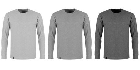 long sleeve in three shades of grey