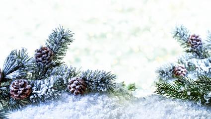 Winter Karte Tanne