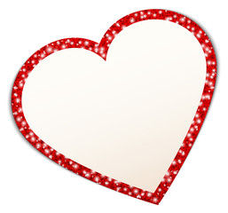 Heart Sparkling Red Frame