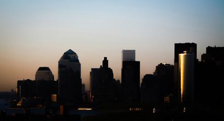 Downtown Manhattan at sunset