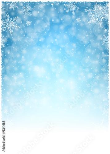 Christmas Winter Frame Illustration Vector Illustration